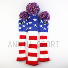Manufacturers Direct Selling Cross Border Electricity Supplier Golf Club Sleeve Wooden Rod Set Head Protective Case Yarn Knitted