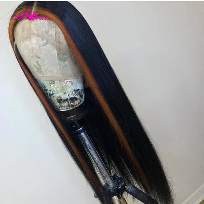 Ali Coco Hair 13x4 Highlight Lace Front Human Hair Wigs 8-28