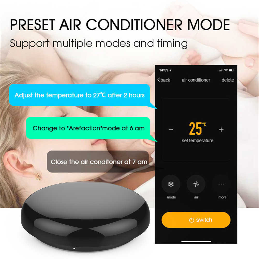 스마트 IR 원격 제어 적외선 범용 스마트 라이프 APP 제어 모든 컨트롤 TV DVD AUD Alexa Google 홈과 함께 작동