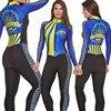 2019 pro equipe triathlon terno feminino camisa de ciclismo skinsuit macacão maillot ciclismo ropa ciclismo hombre manga longa conjunto gel02 9