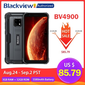 Blackview BV4900 Mobile IP68 Waterproof Smartphone 5.7 inch Screen 3GB RAM 32GB ROM Android 10 Rugged Cellphone NFC OTG 5580mAh 1