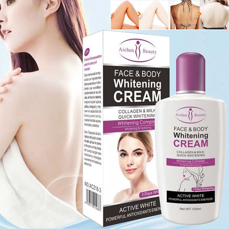Hot Sale Beauty Face Body Whitening Cream Fast For Dark Skin Bleaching Knee Elbow Inner Thigh MSI-19