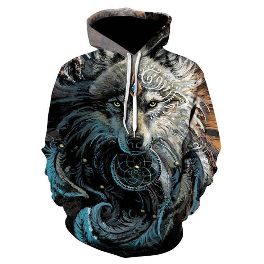 2019 New 3d Animal-printed Hoodie Streetwear Sweatshirt Pullover Casual Hip-hop Hoodie Sportswear