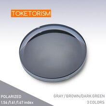 Toketorism 1.56 1.61 1.67 Index Polarized Prescription Myopia Sunglasses Lens Customized Optical lenses