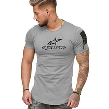 2020 Summer Fashion Men's Alpine Star T Shirt Casual Patchwo