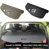 For Car Rear Trunk Security Shield Cargo Cover For Suzuki S CROSS 2014 2015 2016 2017 2018 High Qualit Black Beige Auto Accessories|Chromium Styling| |  -