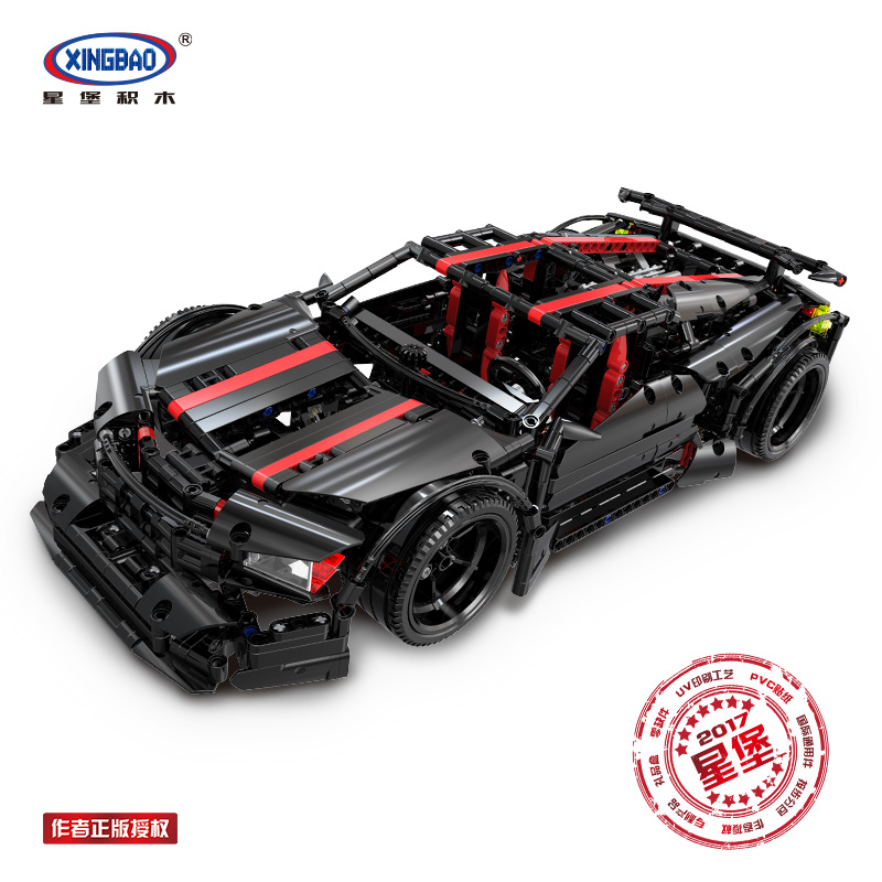 XingBao 07003 Creative MOC Technic Series The 2015 Assassin X19 Car Set Educational Building Blocks Bricks Toys Model DIY Gifts