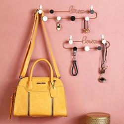 Iron LOVE Letter Wall Shelf DIY Girls Room Wall Mounted Storage Rack For Bedroom Decor Wall Decoration Holder Key Hanger