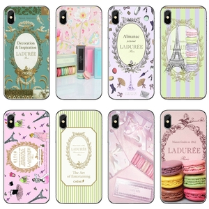 Soft Silicone Phone Case For iPhone 11 Pro XS Max XR X 8 7 6 6S Plus 5 5S SE 4S 4 iPod Touch 5 6 Paris Laduree Macaron