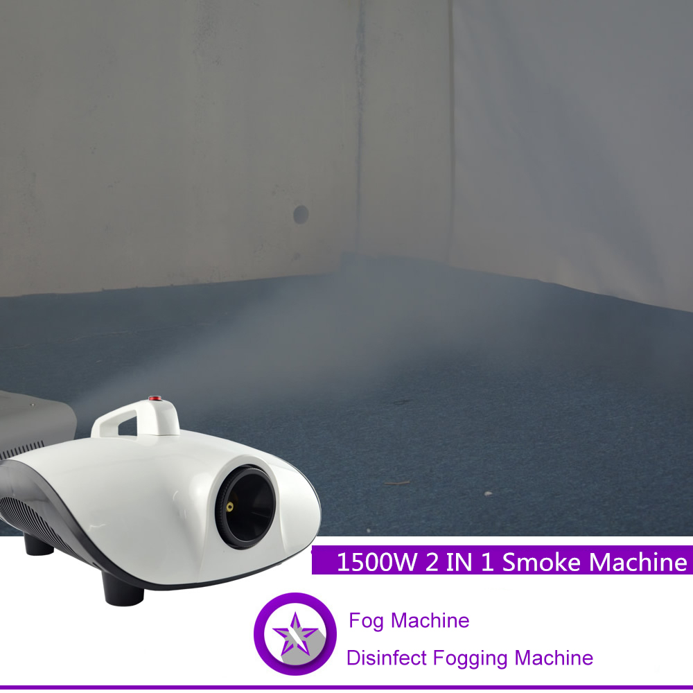 Sharelife 2 In 1 220V 1500W Disinfection Fogging Timer Smoke Fog Machine For DJ Party Show KTV Stage Lighting Effect Car W1500