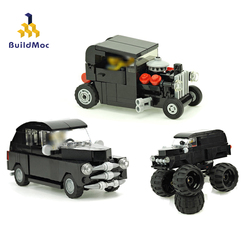 BuildMoc Technical Car Series Bigfoot Truck City Classic Car Building Block Creator Mini Vehicle Model kid Toy For Children