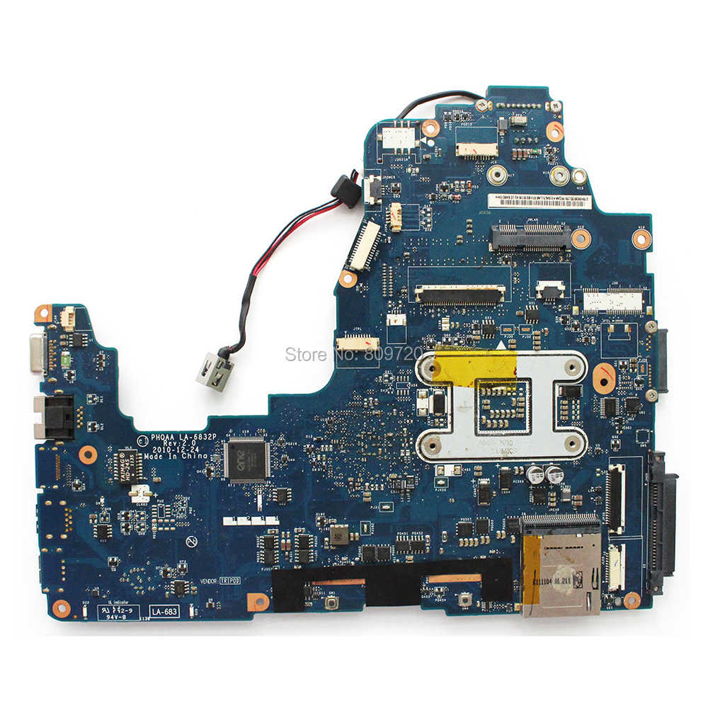 Excellent for Toshiba P750 P755 Laptop Motherboard HM65 DDR3 K000128590 PHQAA LA-6832P 100/% Working
