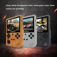 Rg351v-mando de juegos portátil de madera para niños, núcleo de juego de combate Rk3326 para consola infantil, Usb Quad Mini, Ips Re J9a5