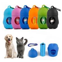 (1 Box+3 Roll) Pet Poop Bag Set Garbage Carrier Holder Dog Cute Trash Dispenser Storage Box Clean Up Waste