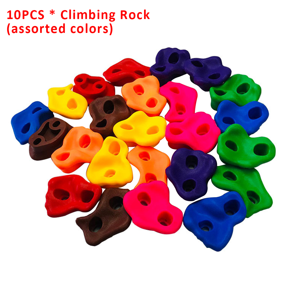 10pcs Grip Backyard Assorted Kids Small Plastic Wall Stones Climbing Rock Set Children Toys Without Screws Indoor Outdoor
