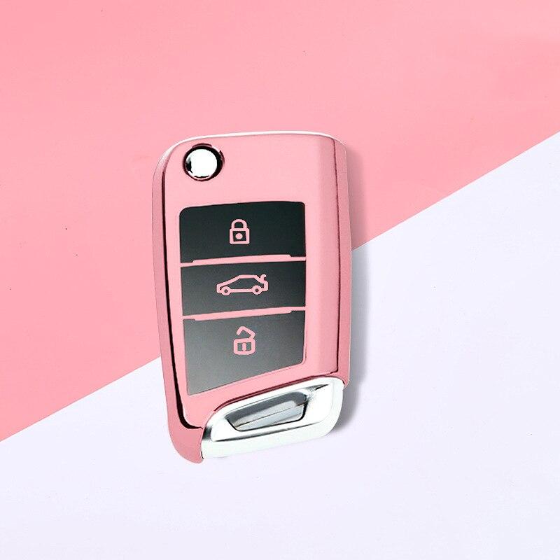 2020 Новый ТПУ чехол для автомобильного ключа для Volkswagen VW Golf 7 mk7 Seat Ibiza Leon FR 2 Altea Aztec для Skoda Octavia Protect
