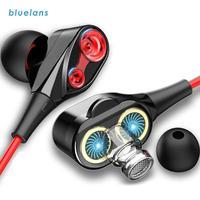 Equilibrado Armatured + Dynamic, auriculares internos con cable Universal, 2 controladores, bobina móvil, 3,5mm, estéreo 3D, novedad