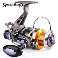 Sougayilang 3000 8000 Spinning Reels Double Drag Machined Aluninium Spool Carp Fishing Wheel 10BB Left Right Bait Runner Reel