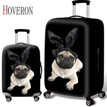 HOVERON Thicken Suitcase Protective Covers for 18-32 Inch Suitcase Case Travel Luggage Bag Trolley Elastic Luggage Cover цена 2017