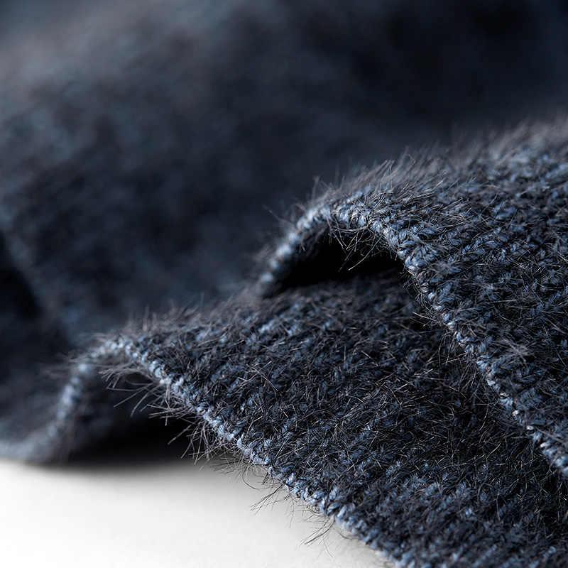 Kuegou 브랜드 남자 라운드 칼라 뜨개질 스웨터 스웨터 새로운 겨울 2020 트렌드 톱 사이즈 BZ-12769 한 판