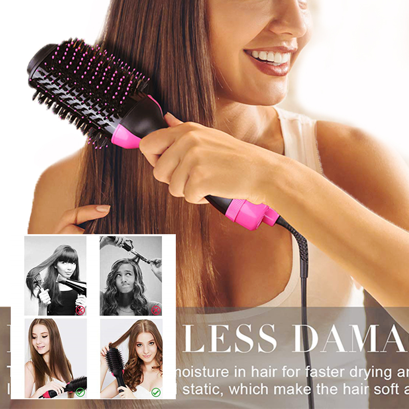 One Step Hair Dryer And Volumizer Blow Dryer Hair Dryer Brush Styler Professional Hair Straightener Straightening  Tangle Comb