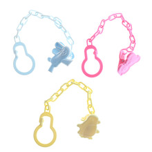 1 PC Bayi Dot Klip Lucu Puting Teethers Dot PP Dot Pemegang Rantai Drop-Tahan Sabuk 24.5 CM(China)