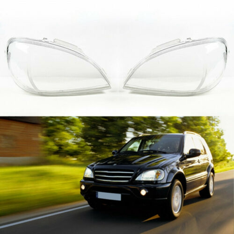 2Pcs Headlights Transparent Headlights Transparent Cover Lampshade Head Light Lamp Shell ( Left/Right) For Mercedes Benz W163 Ml