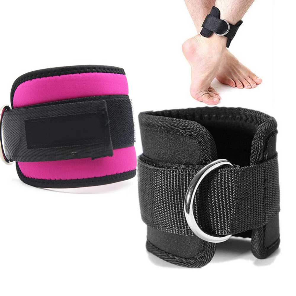 1pc Adjustable Protection Ankle Guard Strap D-ring Thigh Leg Pulley Gmy Weight Lifting Legs Strength Recovery Training Fitness