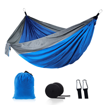 цена на Camping hammock double and single portable hammock lightweight nylon parachute hammock for backpacking travel beach backyard ter