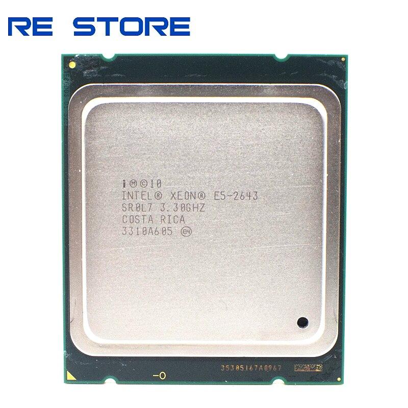Intel Xeon E5 2643 SR0L7 3.30Ghz CPU LGA 2011 Quad Core Processor|CPUs| - AliExpress