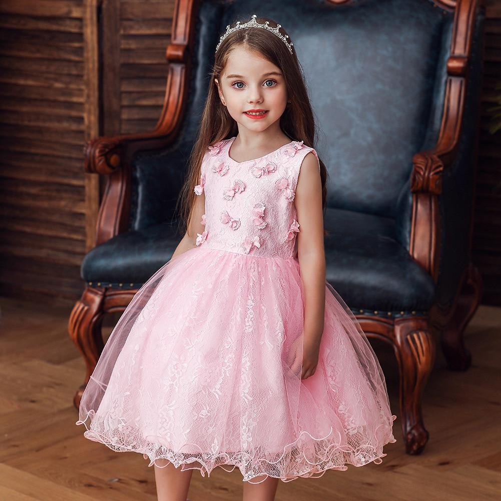 New Style Baby Puffy Gauze Girls Princess Dress Kindergarten Costume Summer Kids' Waistcoat Dress