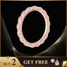 Shipei 100% 925 Sterling Silver Wedding Band for Women Gold Wedding Band Ring White Gold Rose Gold Anniversary Gift недорого