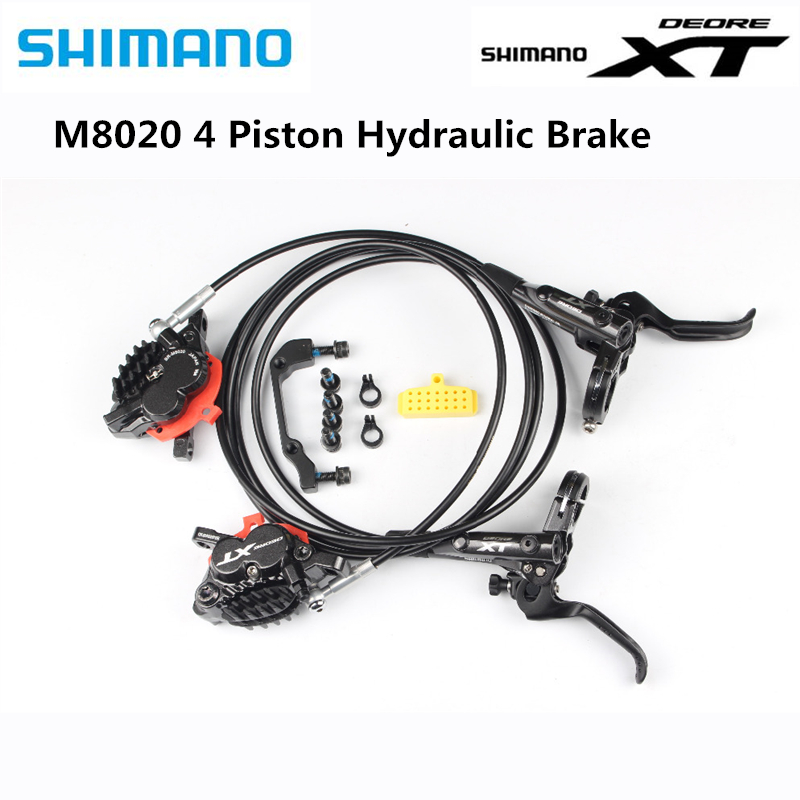 <font><b>Shimano</b></font> <font><b>XT</b></font> <font><b>M8020</b></font> 4 Piston Mountain Bike Bicycle Hydraulic Disc <font><b>Brake</b></font> For MTB Bike Downhill DH Front 1000mm Rear 1700mm image