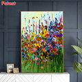 DIY Diamond Painting Abstract art, colorful flowers Diamond Mosaic Drill Square Embroidery Cross Stitch Handmade Hobby PP889