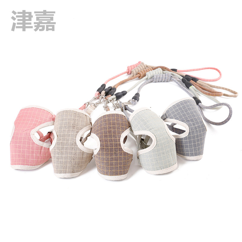 Dog Traction Chest And Back With Pet Set Nylon Tow Rope Chest And Back Breathable Mesh Gou Bei Dai