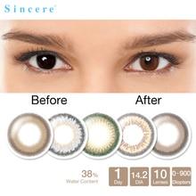 Sincere vision Contact Lenses 0-900 diopter for eye colour contact lens 10lenses Day throw 10pcs/box