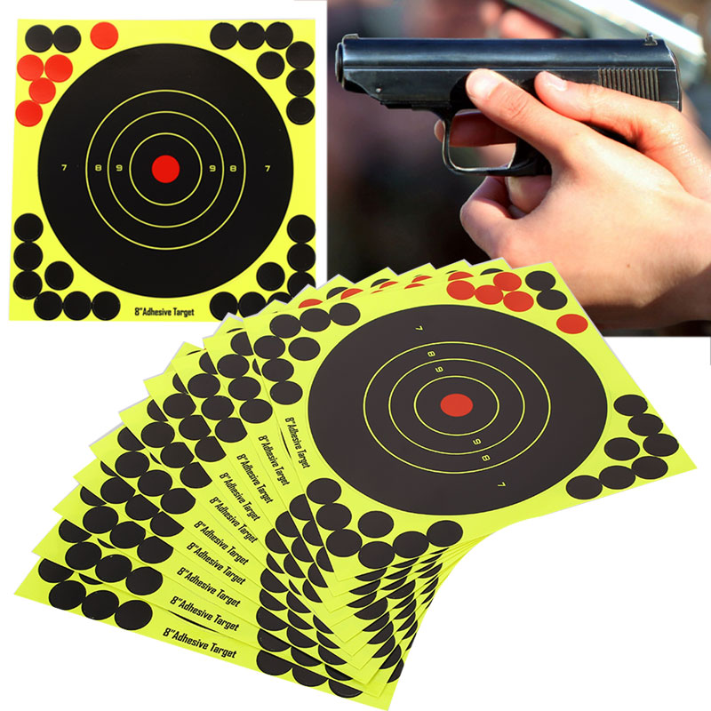 Shooting Target Yellow Rifle Shotgun Hunting Bow Paper Training Target Stickers Paper Target Economic Hunter Archery Practice