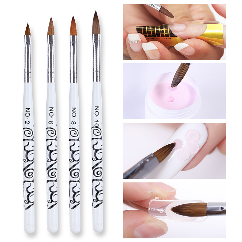 Nail Art Brush Acrylic UV Gel Extension Nail Painting Pen Brushes Flower Drawing Manicure Nail Art Tools DIY Nail Art Designs