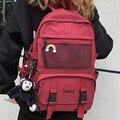 EnoPella Модный водонепроницаемый нейлоновый женский рюкзак для девочек, вместительный рюкзак для студентов, Мужская черная сумка для ноутбук...