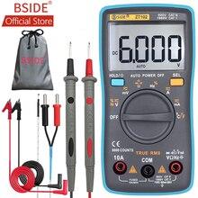 BSIDE ZT102 Ture RMS Multimetro Digitale AC/DC Tensione corrente Temperatura Ohm Frequenza Diodo Resistenza Capacità Tester