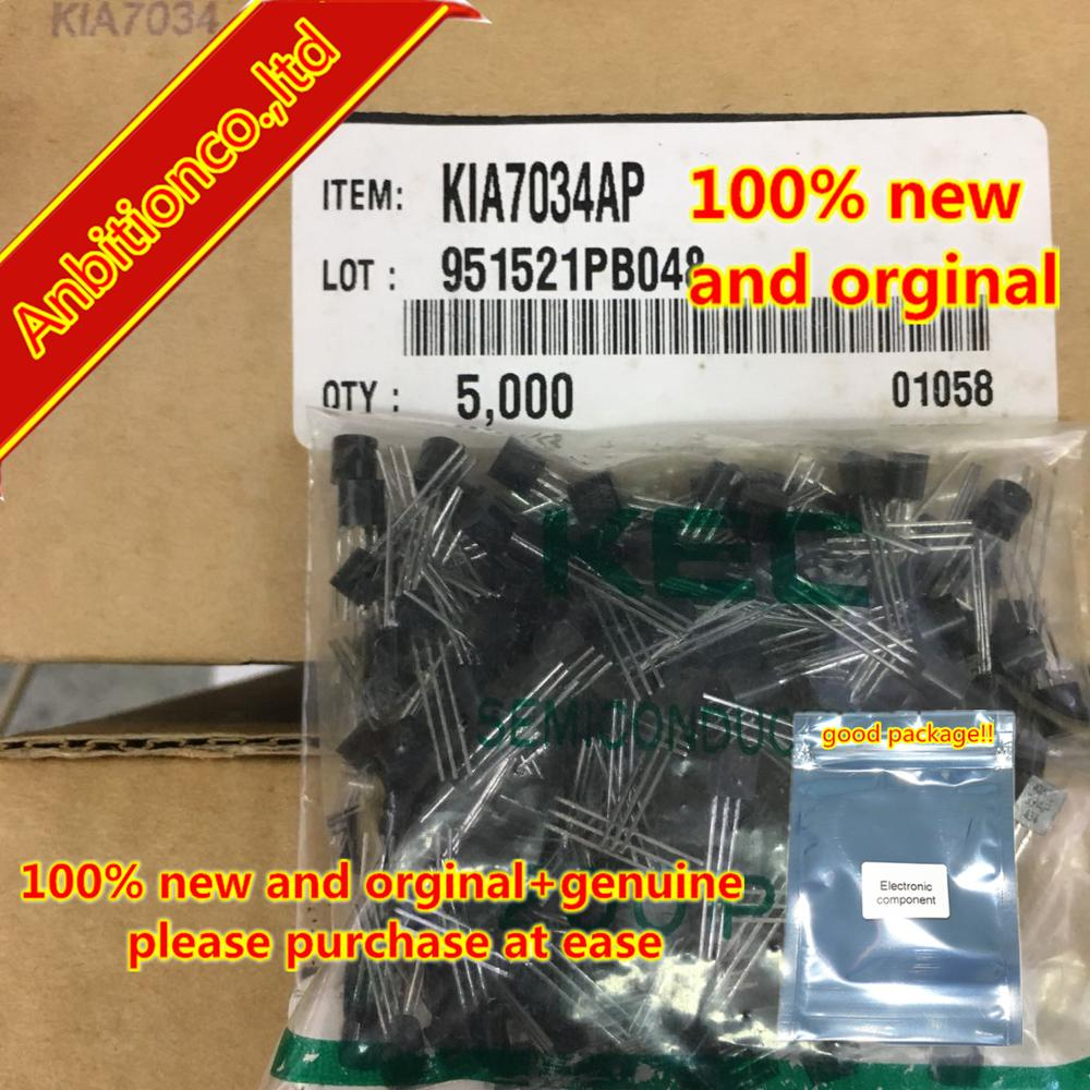 20pcs  100% New And Orginal KIA7034AP TO-92 BIPOLAR LINEAR INTEGRATED CIRCUIT (VOLTAGE DETECTOR) In Stock