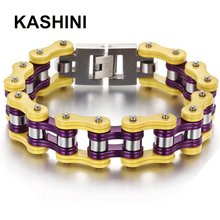 Bangles  Punk Jewelry Bicycle Bike Bracelet Friendship Stainless Charm Motorcycle Chain Gift Men