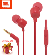 New JBL T110 In Ear Wired Original Headphones Stereo Deep Bass Earbuds Sport Earphones With Mic Support Xiaomi Huawei