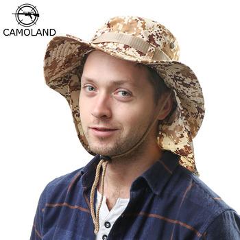 Letni kapelusz typu bucket mężczyźni kobiety Boonie kapelusz z klapką na szyję zewnętrzna ochrona UV szerokie rondo piesze wycieczki wędkowanie Mesh oddychający kapelusz przeciwsłoneczny tanie i dobre opinie CAMOLAND NYLON Poliester Dla dorosłych Unisex Mieszkanie Plaid Wiadro kapelusze Na co dzień Bucket Hats Sun Hats ACU DDC NAVY