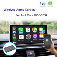 Interface sans fil Apple CarPlay et Android Auto, pour Audi A3 A4L A5 Q5 Q2 Q7 A1 Q3 A6 A7 A8 MMI 2G 3G 2005 – 2018
