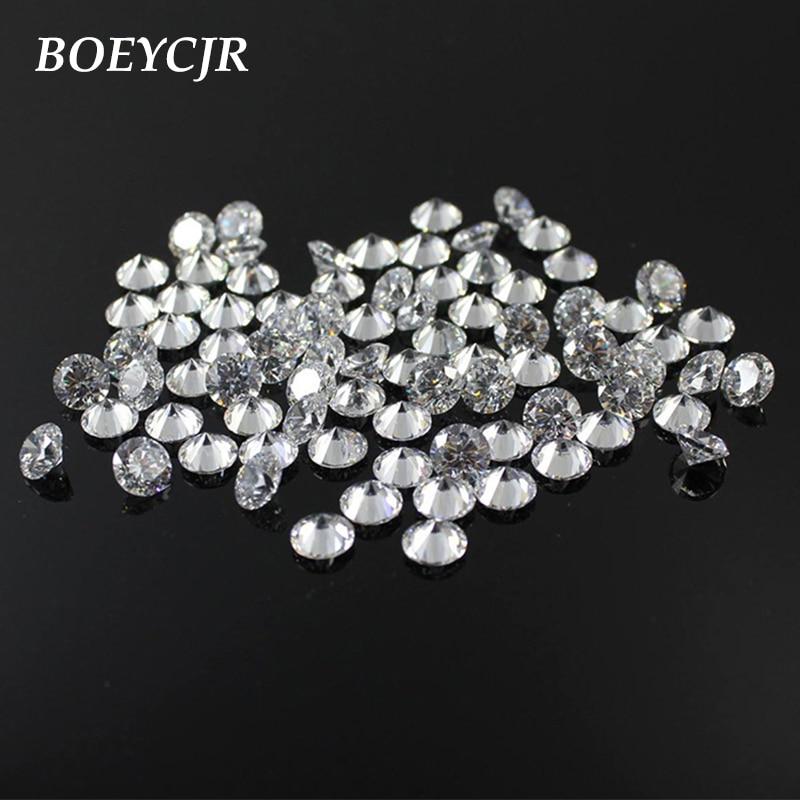 BOEYCJR Moissanite Loose Jewelry Stone VVS1 Brilliant-Cut Round 5mm 4mm 3e-Grade D-Color