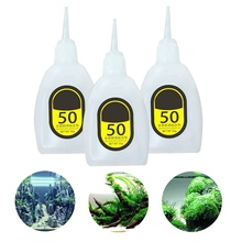 1PC Water Plant MOSS Cyanoacrylate Adhesive Glue Aquatic Plants Decoration Drying Fast Glue, Strong Non-toxic 50g