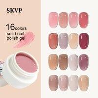 SKVP claro barniz de uñas Mousse de esmalte de uñas de Gel UV 10ML jalea Rosa Nude Color remojo LED UV Gel para decoración de uñas