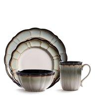 Посуда из американской керамики в стиле ретро белая черная бордюрная