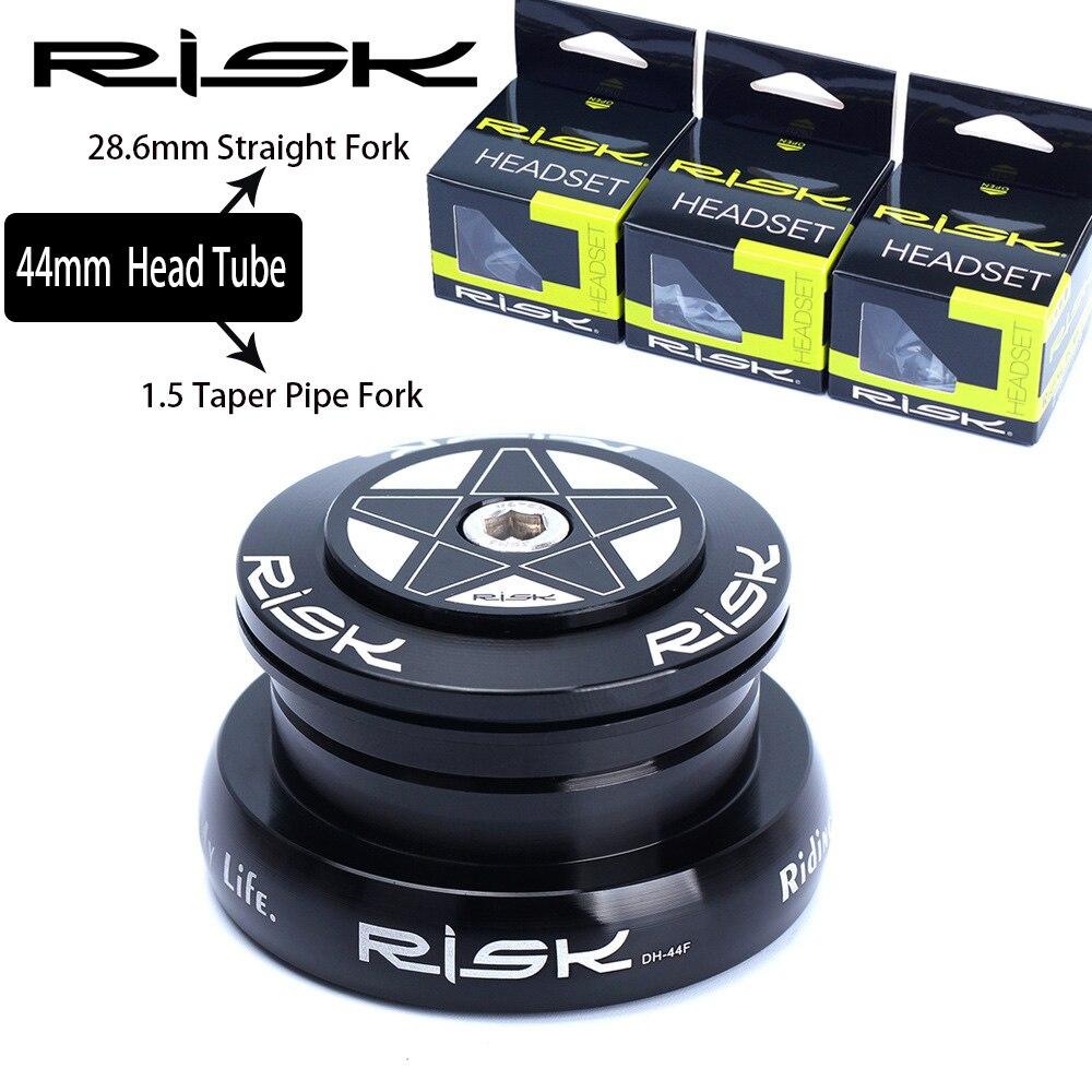 O RISCO de Dupla utilização Da Bicicleta Bicicleta Fone De Ouvido Fone De Ouvido Externo Para 44mm Reta Garfo Tubo de Cabeça Com 28.6 milímetros Em Linha Reta ou 1.5 Tubo Cônico Garfo